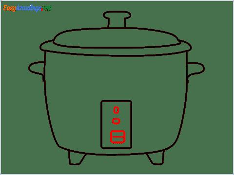 How to draw a Crockpot step (7)