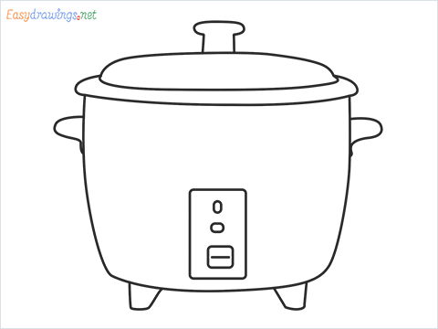 How to draw a Crockpot step by step for beginners