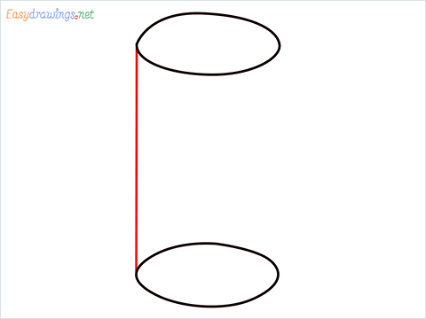 How to draw a Cylinder shape step (3)