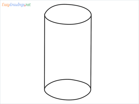 How to draw a Cylinder shape step by step for beginners