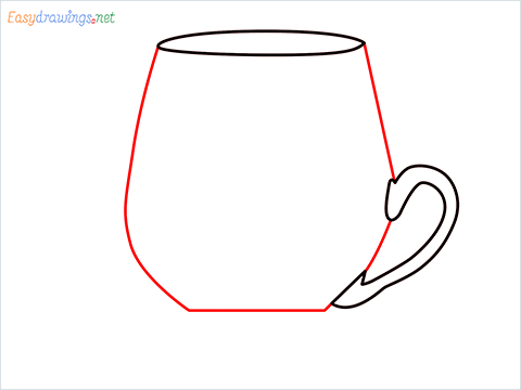 How to draw a Demitasse step (4)