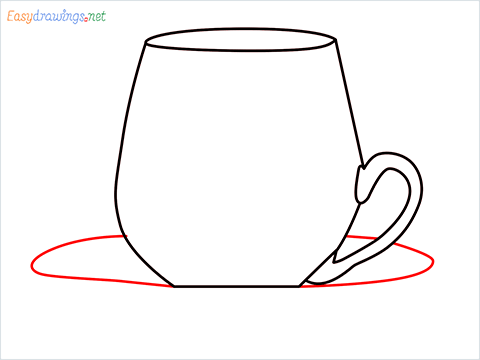 How to draw a Demitasse step (5)