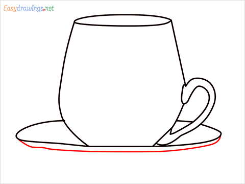 How to draw a Demitasse step (6)