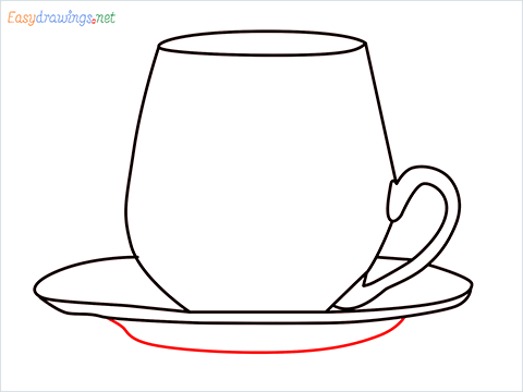 How to draw a Demitasse step (7)