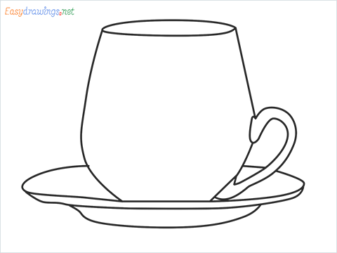 How to draw a Demitasse step by step for beginners