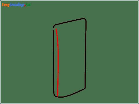 How to draw a Dishtowel step (2)