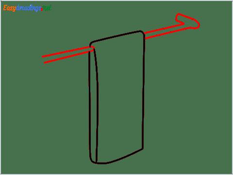How to draw a Dishtowel step (3)