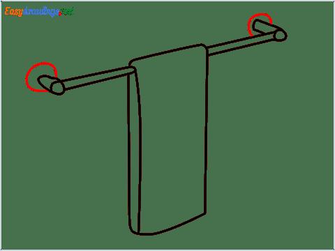 How to draw a Dishtowel step (6)