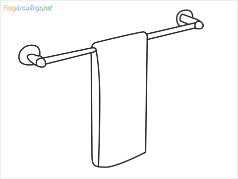 How to draw a Dishtowel step by step for beginners