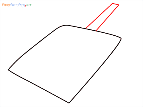 How to draw a Dustpan step (3)