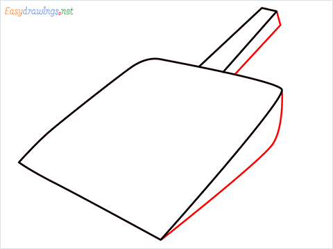 How to draw a Dustpan step (4)