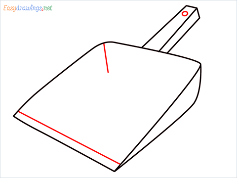 How to draw a Dustpan step (5)