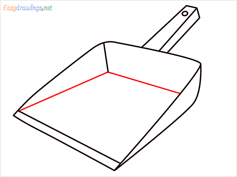 How to draw a Dustpan step (6)