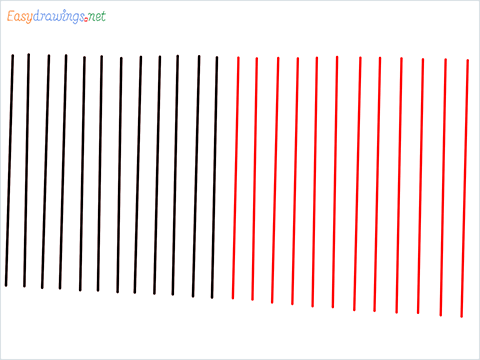 How to draw a Fence step (2)