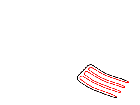 How to draw a Gardening fork step (2)