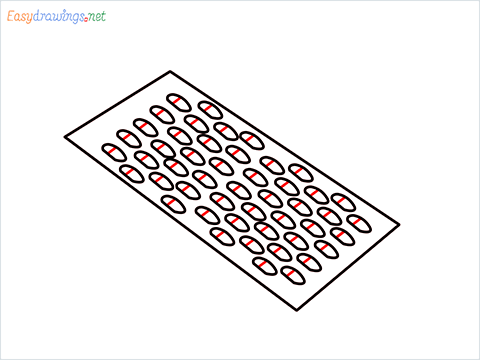 How to draw a Grater step (4)