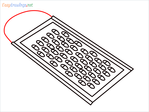 How to draw a Grater step (7)