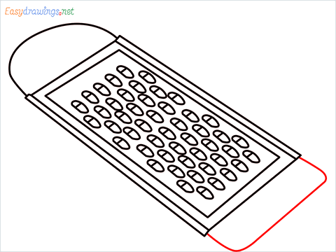 How to draw a Grater step (8)