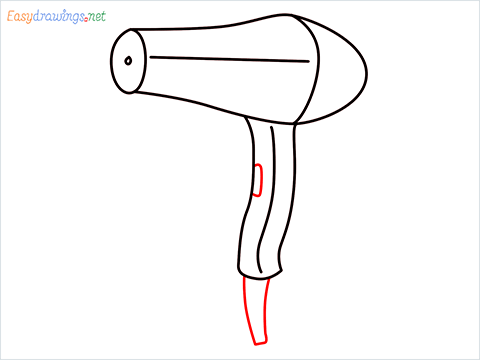 How to draw a Hear dryer step (6)