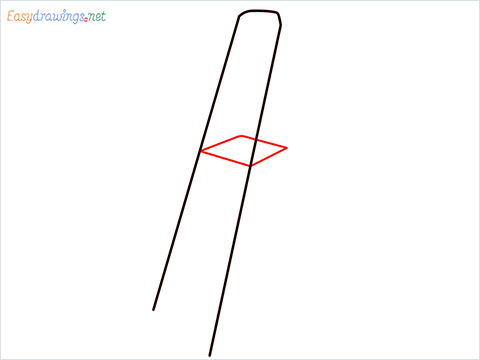 How to draw a Ladder step (2)