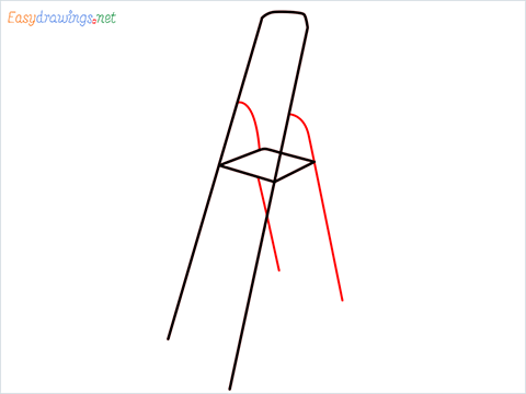 How to draw a Ladder step (3)