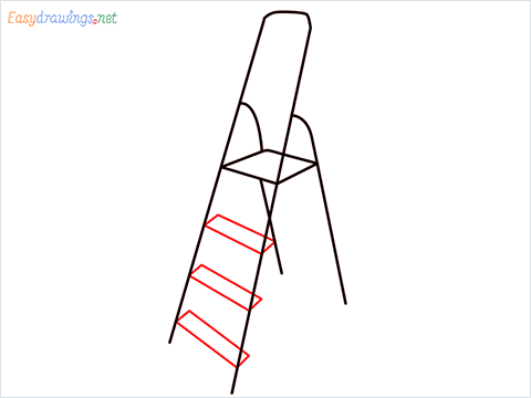 How to draw a Ladder step (4)