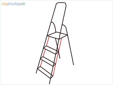 How to draw a Ladder step (5)