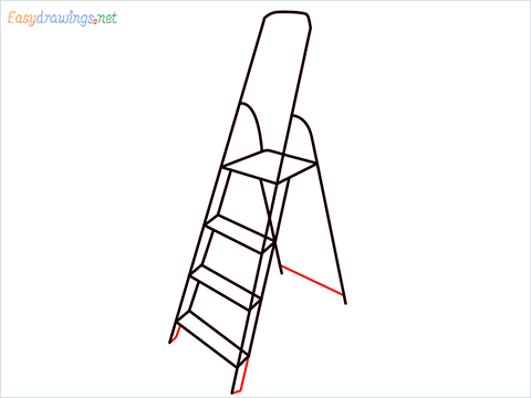 How to draw a Ladder step (6)