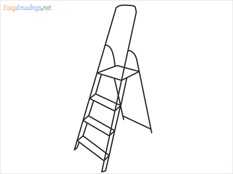 How to draw a Ladder step by step for beginners
