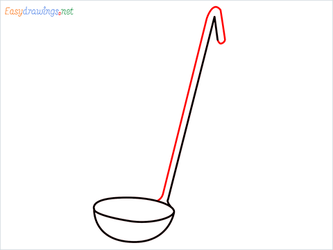 How to draw a Ladle step (4)