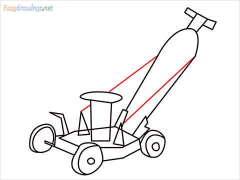 How to draw a Lawn Mower step (10)