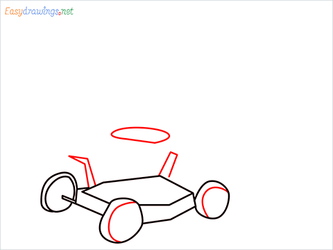 How to draw a Lawn Mower step (5)