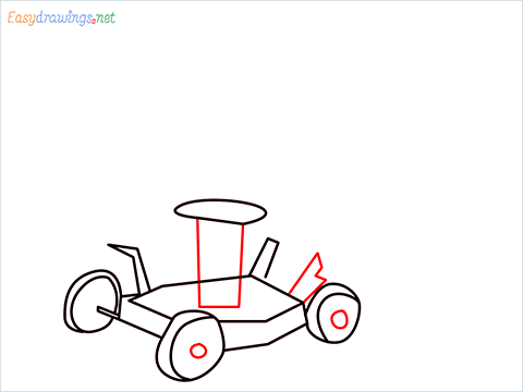 How to draw a Lawn Mower step (6)