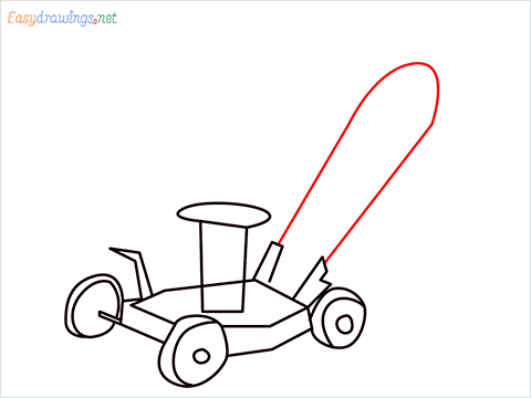 How to draw a Lawn Mower step (7)