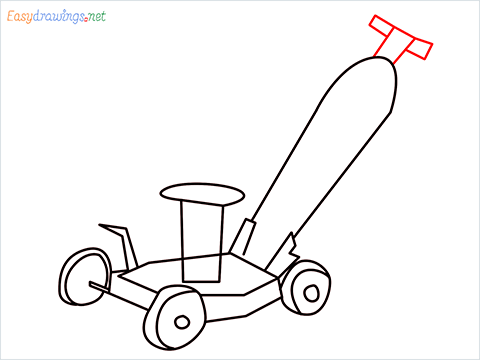 How to draw a Lawn Mower step (8)