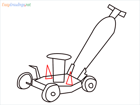 How to draw a Lawn Mower step (9)