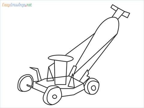 How to draw a Lawn Mower step by step for beginners