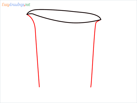 How to draw a Measuring cup step (2)