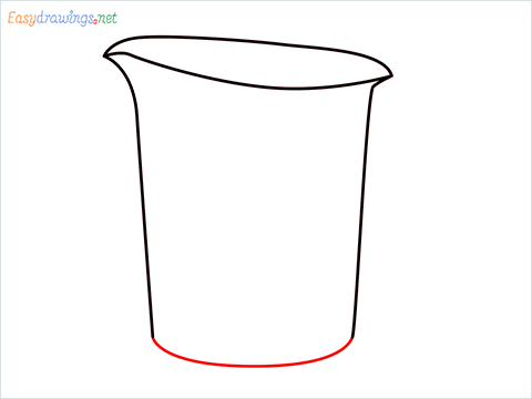 How to draw a Measuring cup step (3)