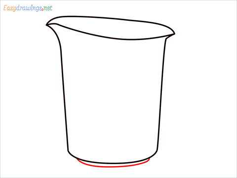 How to draw a Measuring cup step (4)