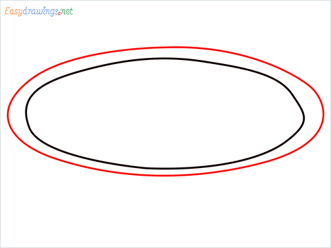 How to draw a Pie plate step (2)
