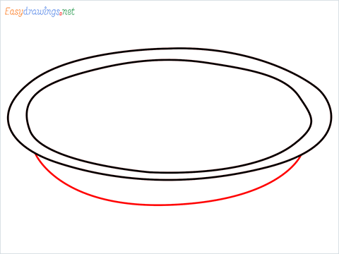 How to draw a Pie plate step (3)