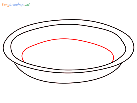 How to draw a Pie plate step (4)