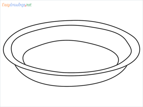 How to draw a Pie plate step by step for beginners
