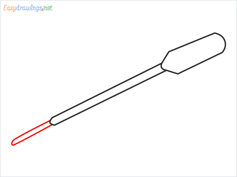 How to draw a Pipette step (4)