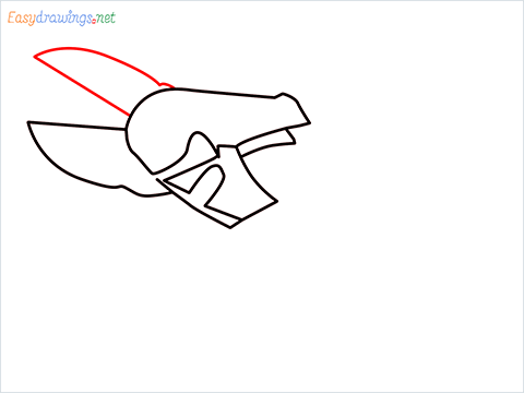 How to draw a Pruners pruning shears step (5)