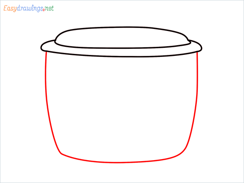 How to draw a Rice cooker step (3)