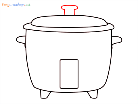 How to draw a Rice cooker step (6)