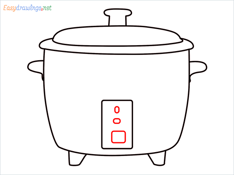 How to draw a Rice cooker step (7)