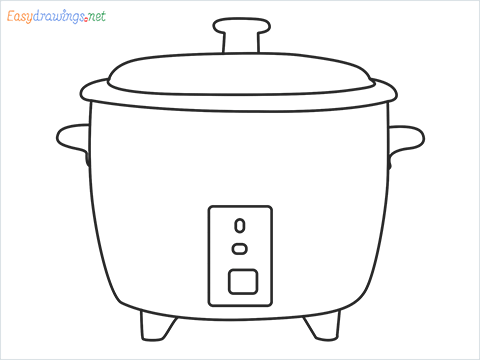 How to draw a Rice cooker step by step for beginners